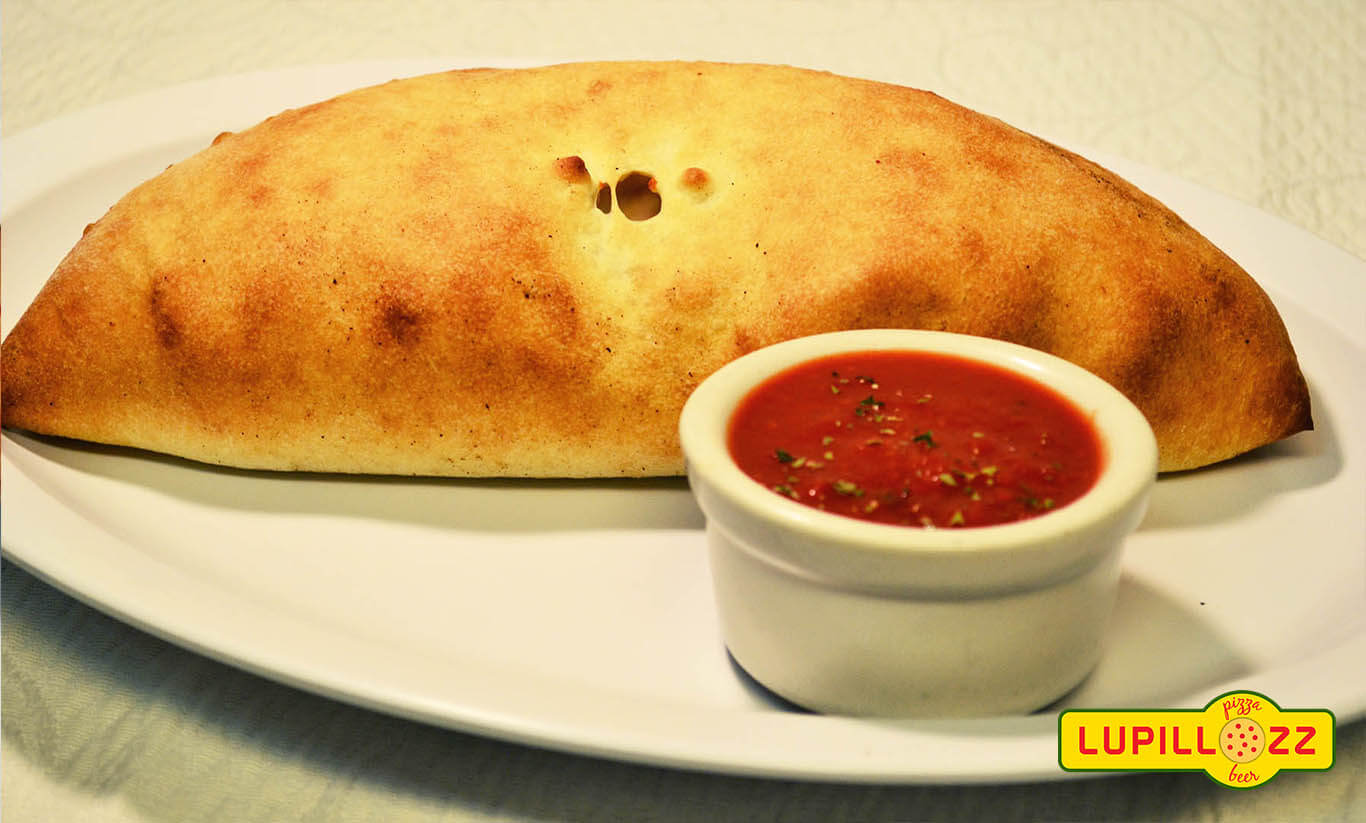 Calzone with marinara sauce